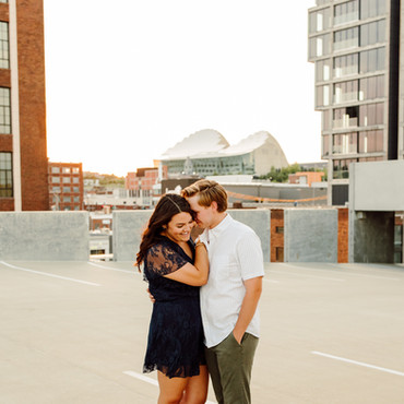 Downtown Engagement Photos