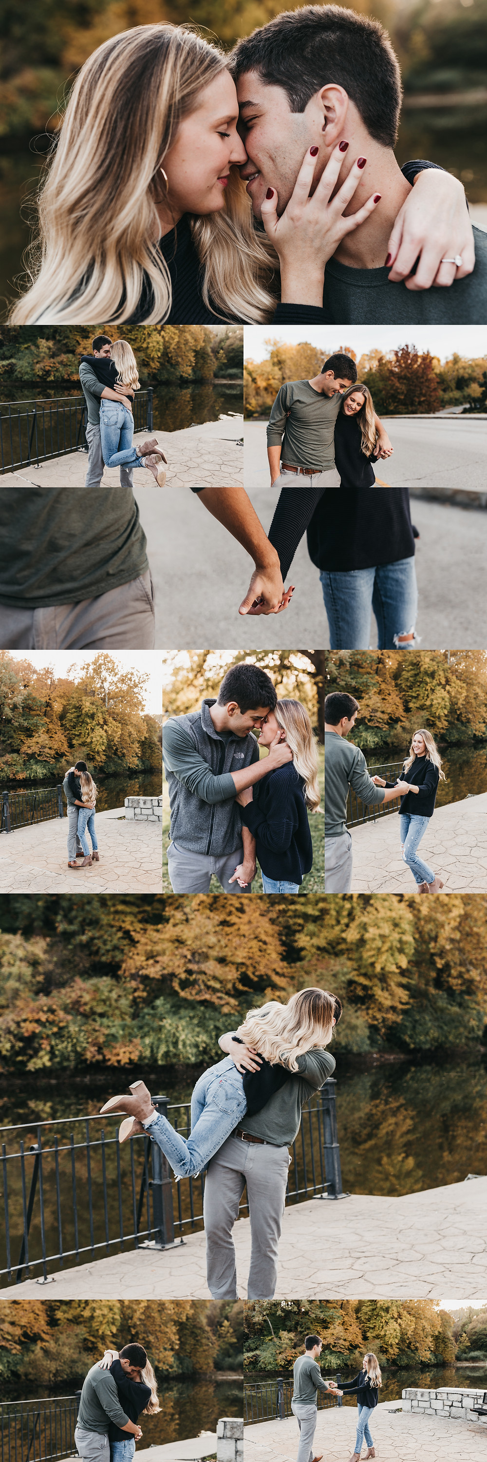 Casual Fall Engagement Photos