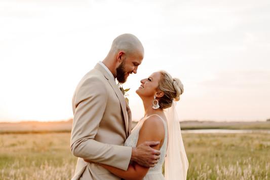 Kansas Bride and Groom