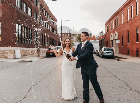 A Blush and Navy Kansas City Themed Wedding at the Everly Event Space