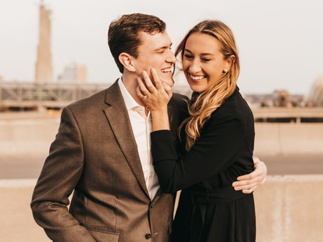 Downtown Kansas City Engagement Photos with Zach and Rachel