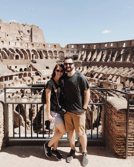 Jill Stuefer in Rome Italy