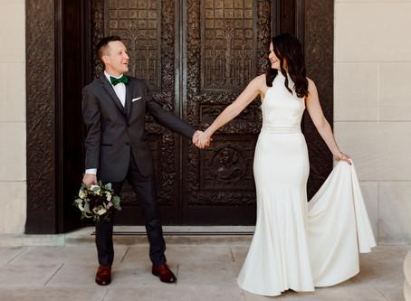 Romantic Emerald Wedding at Loose Mansion in Kansas City