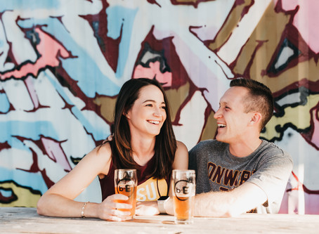 Brewery Engagement Photos in the Crossroads Kansas City