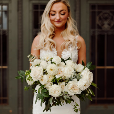 St. Louis Bride with White Roses