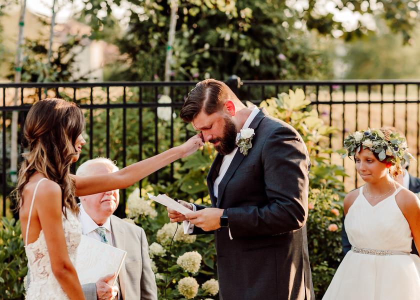 Emotional Kansas City Bride and Groom