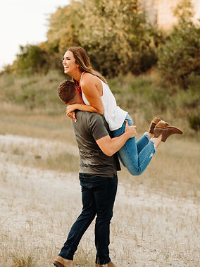 Fun Couple During Summer Engagement Shoot