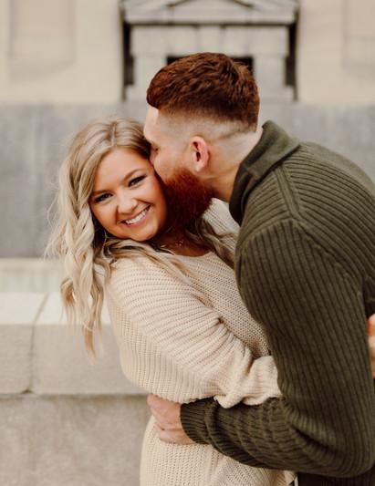Cute Engagement Photos Downtown Kansas City