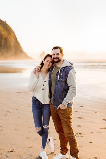 Sunset Couples Photos at Cannon Beach Oregon