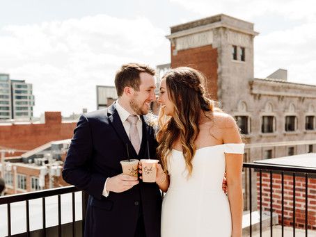 A Boho Summer Wedding Day with Coffee Shop Stop at The Everly