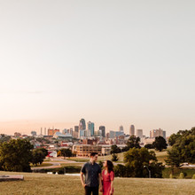 Kansas City Skyline Engagement Photos