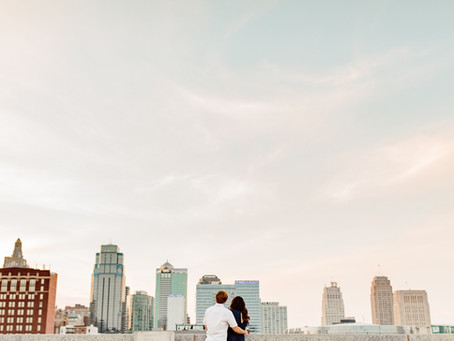 A Fun and Flirty Engagement Session in Downtown Kansas City