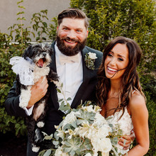 Kansas Bride and Groom with Dog