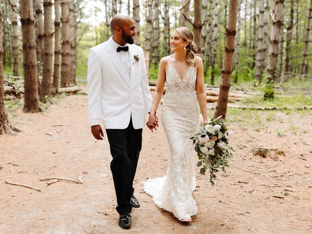 A Romantic Wooded Backyard Wedding in Kansas City