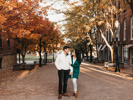 Fall Engagement Session Downtown Kansas City