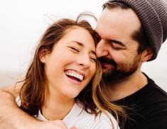 Gearheart Oregon Couples Photos on foggy beach