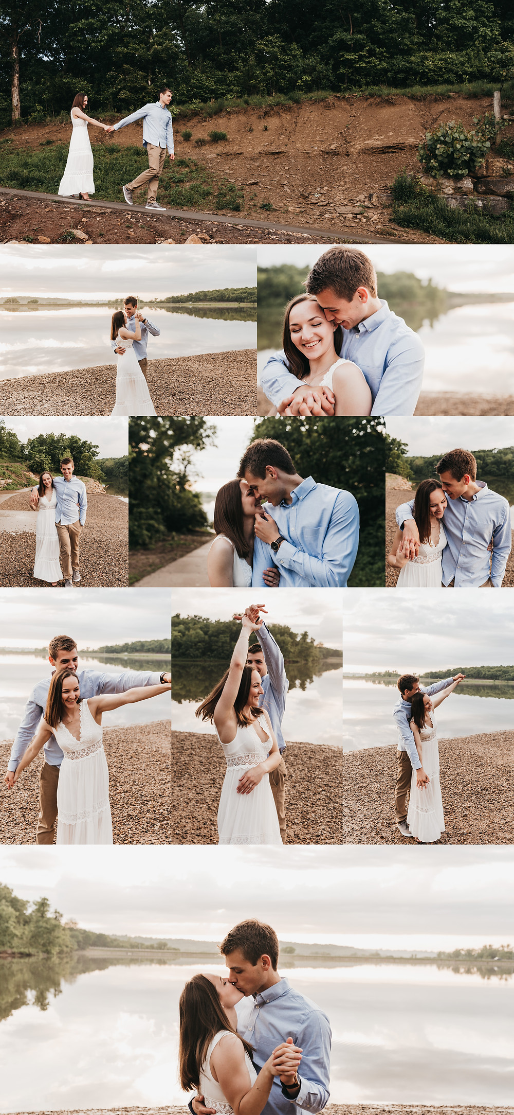 Engagement Photos By Lake