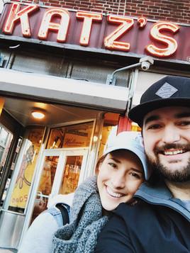 New York City Couple at Katzs' Deli