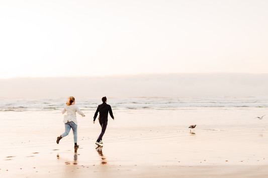 Couple at Cannon Beach