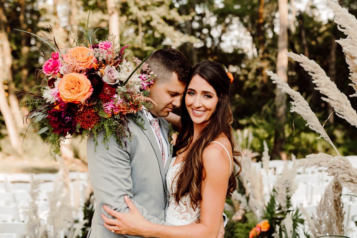 Boho and Tropical Summer Airbnb Wedding