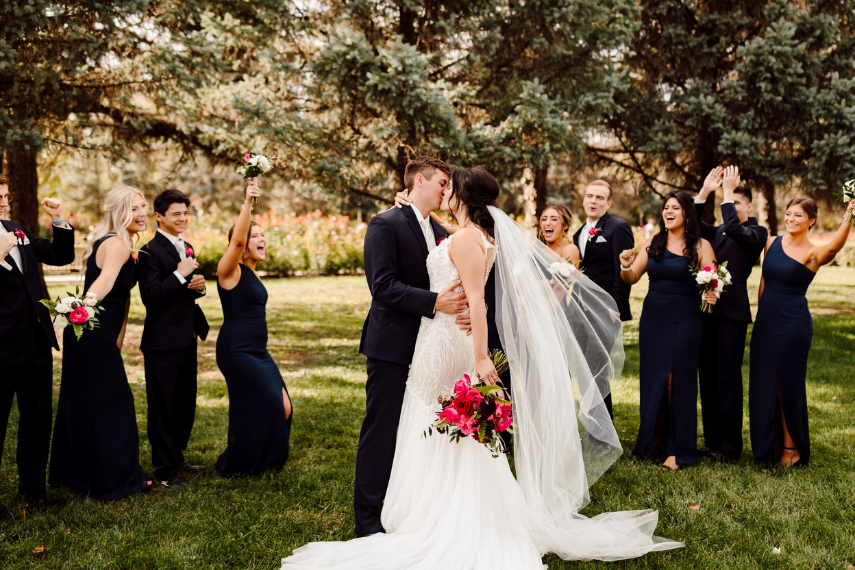 A Romantic and Colorful Fall Wedding at the Diamond Room in downtown Omaha Nebraska