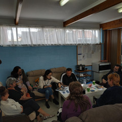 Alice shareing healthy activities in Wednesday Fellowship session