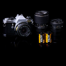 Pentax ME Super with Lenses and Film - A