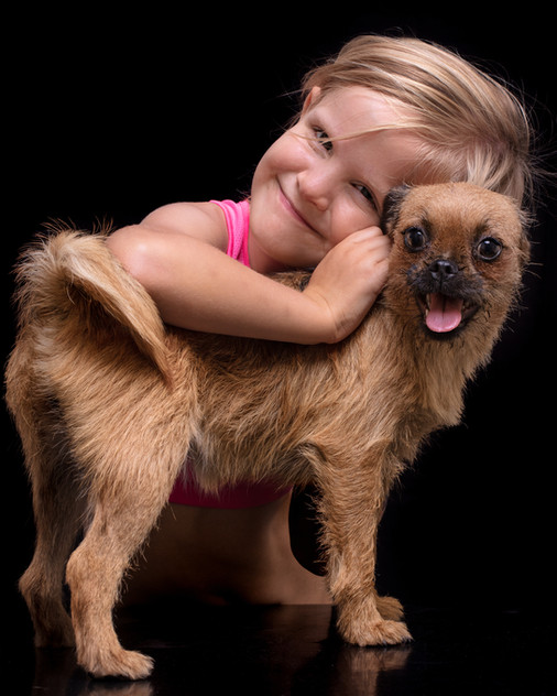 Small girl with Dog - Absphotos - Photog