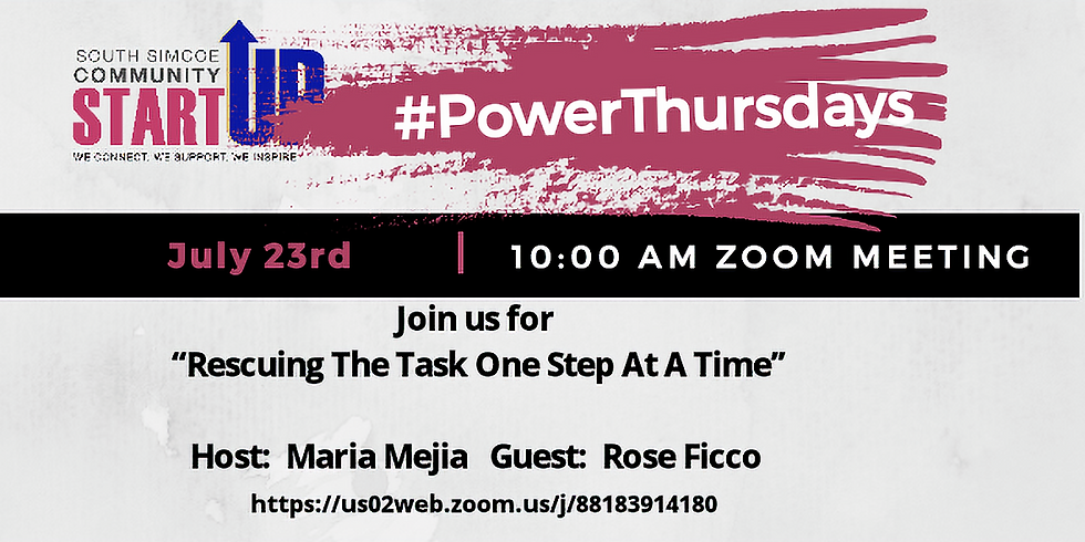 #PowerThursdays -Rescuing The Task One Step At A Time.