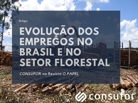 Evolução dos Empregos no Brasil e no Setor Florestal – Jun/2009 a Jun/2019