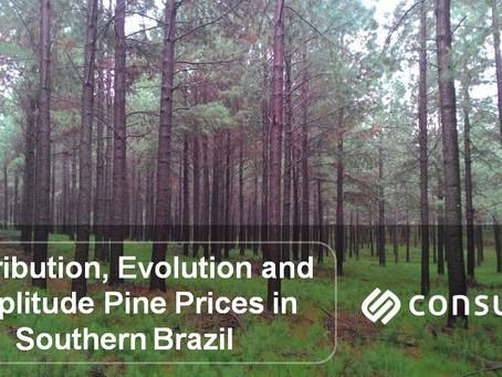 Distribuição, Evolução e Amplitude dos Preços de Pinus no Sul do Brasil