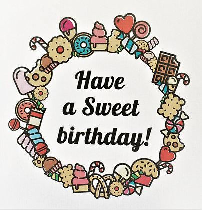ברכת יום הולדת מתוק