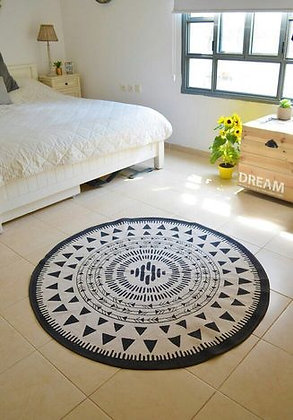 """שטיח כותנה בוהו קוטר 60 ס""""מ"""
