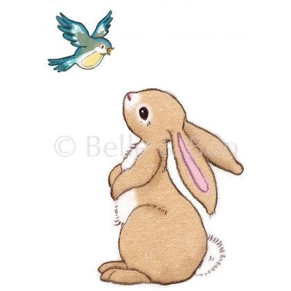 Belle & Boo מדבקת קיר בו וציפור