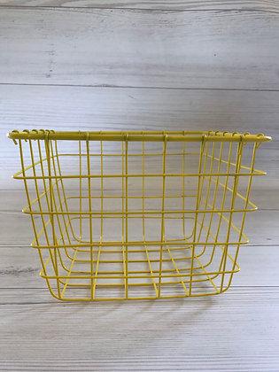 סלסלת רשת צהובה