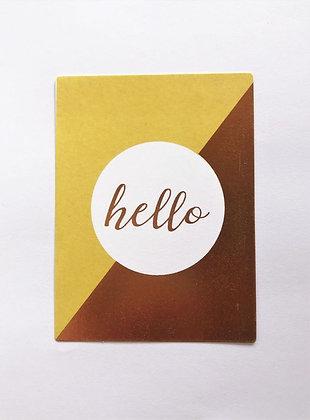 כרטיס קטן פויל זהב 8#