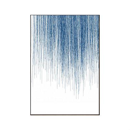 תמונה ממוסגרת כחולה