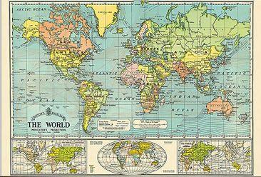 פוסטר מפת עולם גרסה 1#