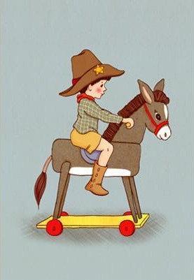 Belle & Boo גלוית סוס נדנדה