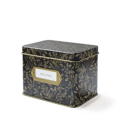 קופסת מתכונים שחור זהב