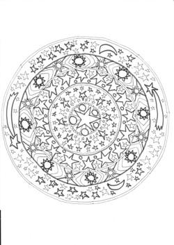 17 Sterne Sonne Mond
