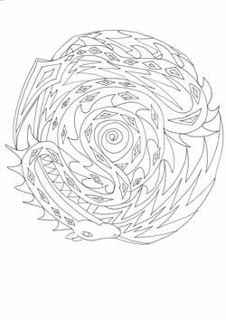 26 Drachen Muster