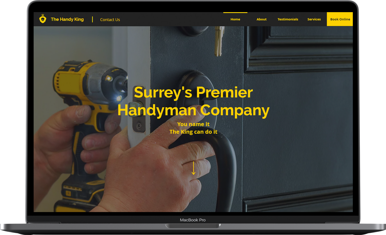 Laptop The Handy King Website Design By