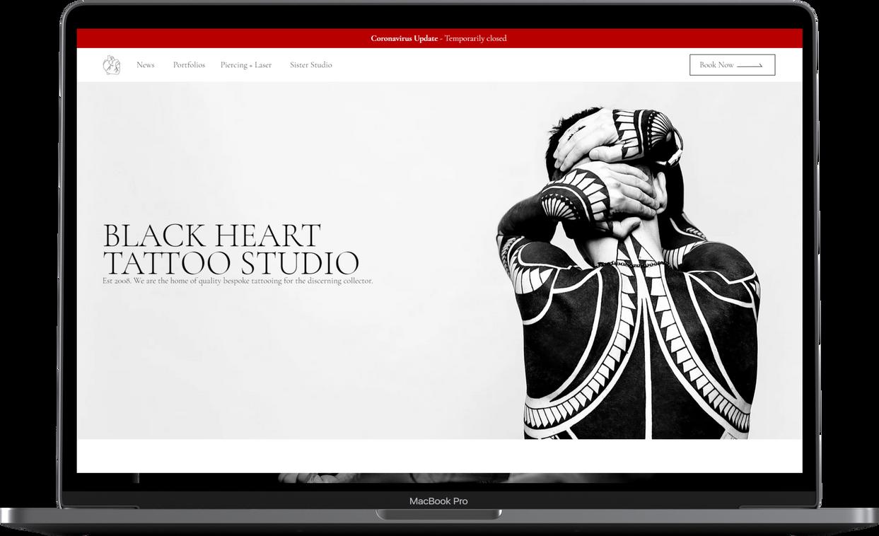 Tom Gray Website Design - Black Heart La
