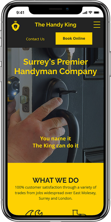 Mobile The Handy King Website Design By