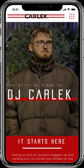 Mobile DJ Carlek Website Design By Tom G