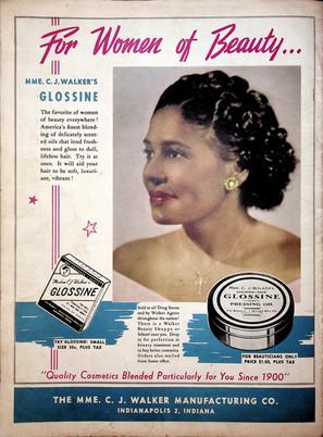 Color Magazine Madam CJ Walker's Glossine Ad in Color