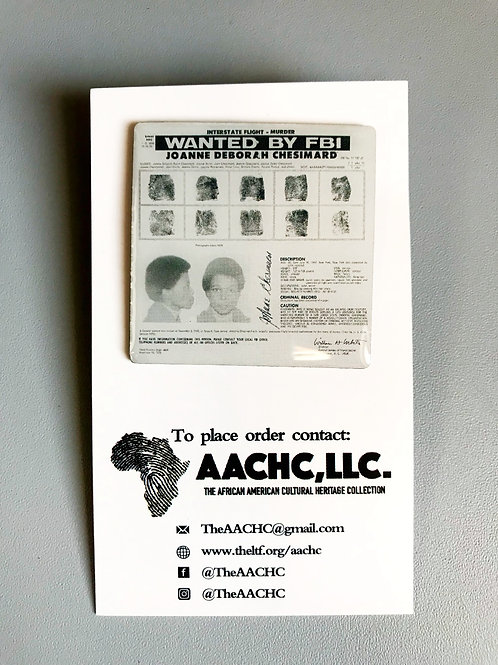 Assata Shakur 1st FBI Wanted Poster Exclusive Black History Pin