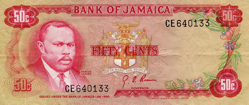Bank of Jamaica MG Fifty Cents