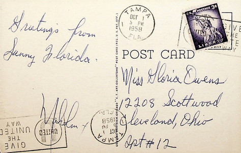 Malcolm X Postcard - back